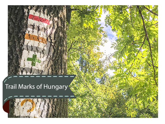 Hiking Trail Marks of Budapest and Hungary